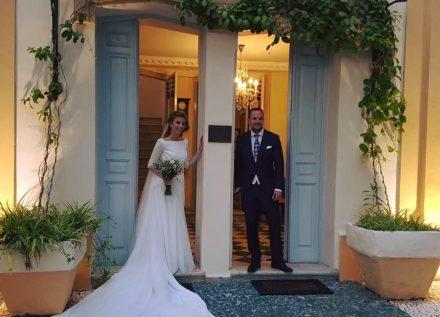 Fran y Elena, los novios ganadores el día de su boda