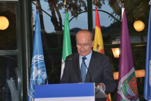 D. Francisco de la Torre, alcalde de Málaga, en su discurso